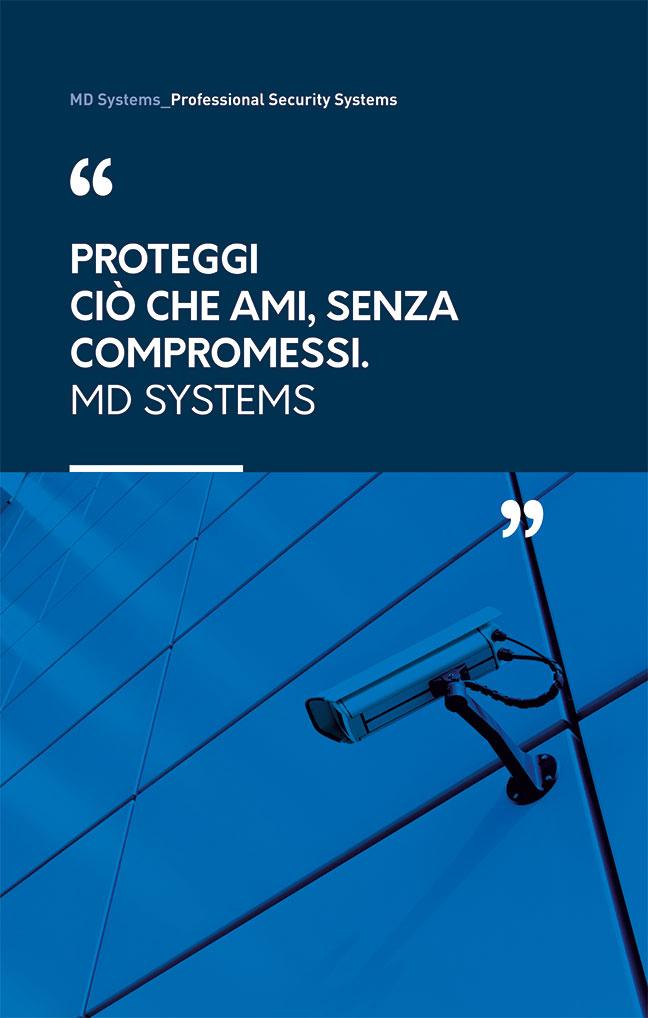 MD Systems. i professionisti della sicurezza. Banner espositivo.