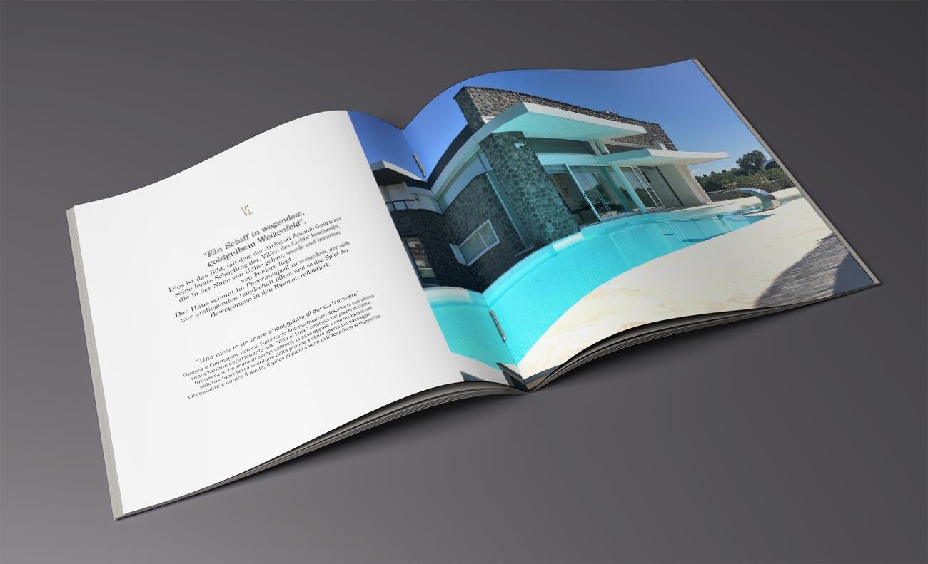 Open House. Interno della brochure Villa Luce per conto di Polo Immobiliare Grado
