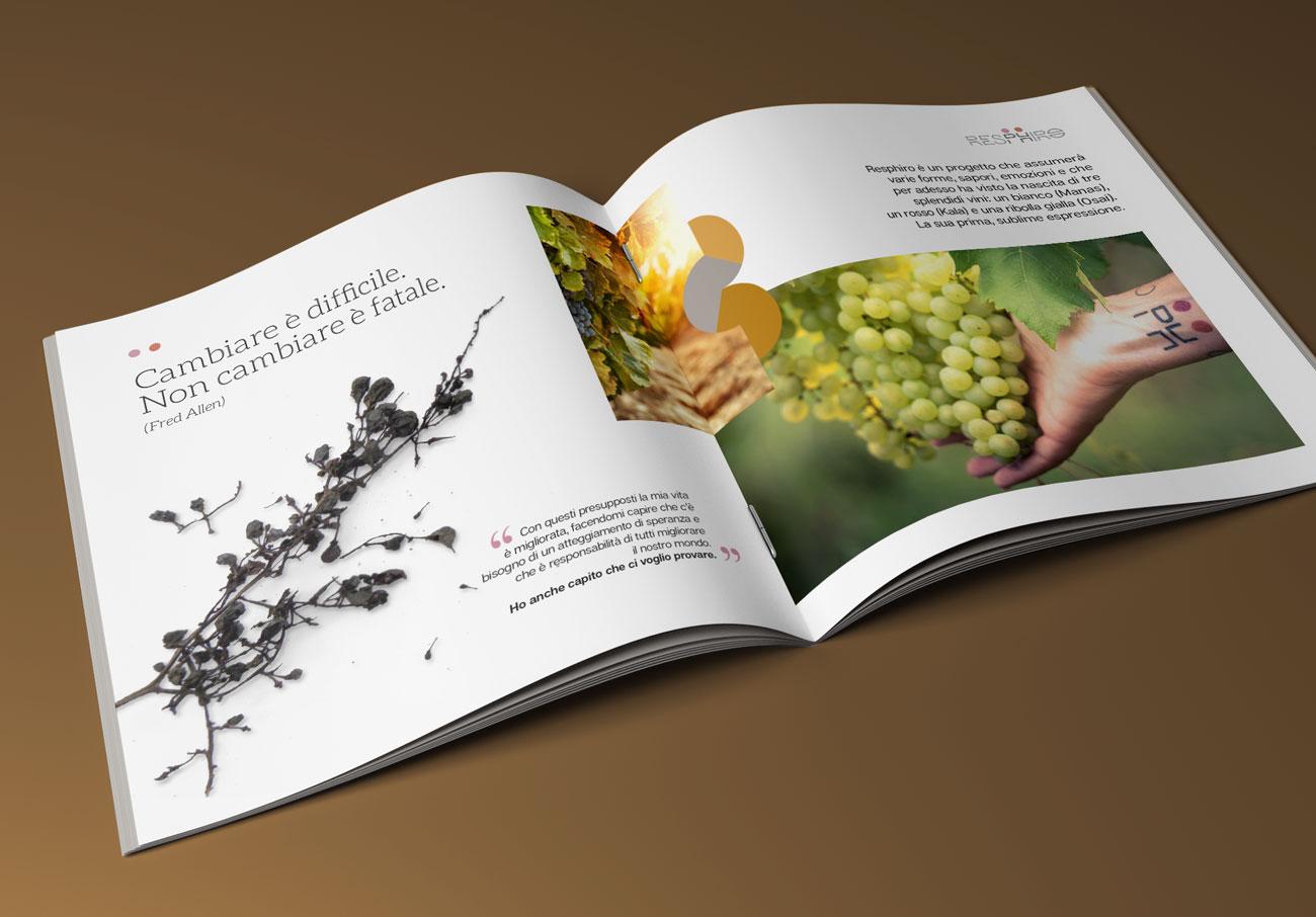 Azienda vinicola Resphiro. Interno della Brochure