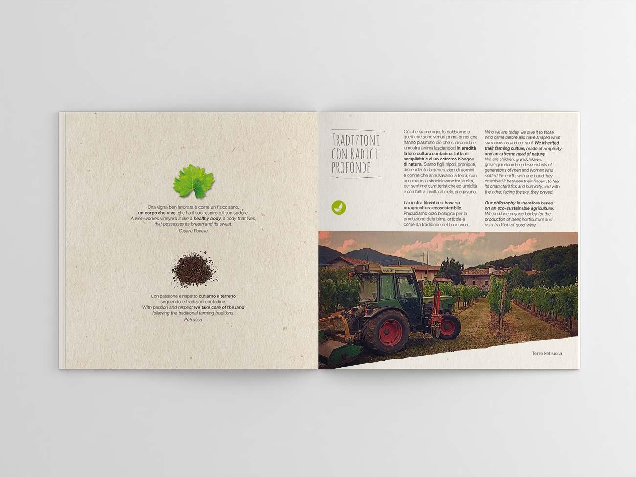 Agriturismo Terre Petrussa Wine & Beer. La brochure